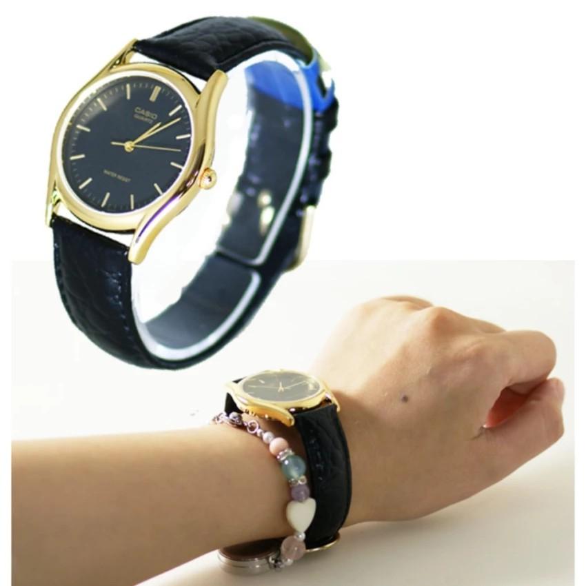 Đồng hồ nam dây da Casio chính hãng Anh Khuê MTP-1094Q-1A