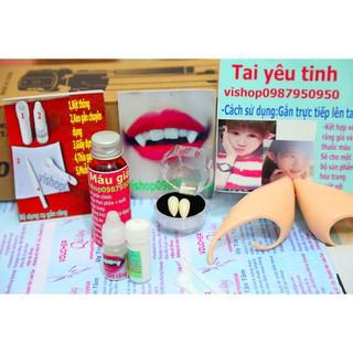 [VỀ HÀNG SẴN]răng nanh răng khểnh giả TẶNG KÈM KEO GẮN TRỊ GIÁ 65Kh
