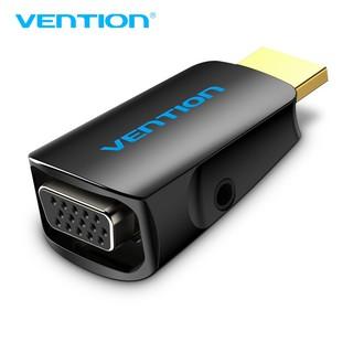 Đầu chuyển đổi HDMI to VGA có hỗ trợ cổng Audio VENTION