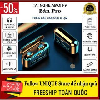 Tai Nghe Bluetooth Amoi F9-39 Pro Phiên Bản Quốc Tế Cảm Biến Vân Tay, Led Hiển Thị Pin, Dock Sạc 2500 Mah
