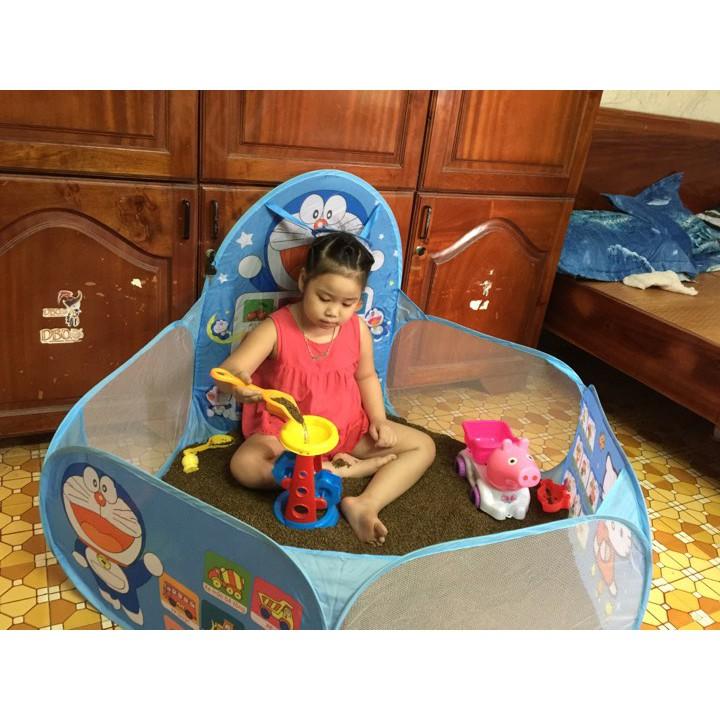 Set đồ chơi xúc cát kèm cả quây và đồ chơi