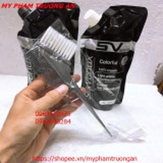 (Tặng chổi nhuộm) Thuốc nhuộm đen Thảo Dược Hàn Quốc SV SilkVenux