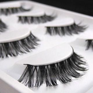 BDF 5 Pairs Lot Black Soft Long Messy Cross False Eyelashes Natural Makeup Extension