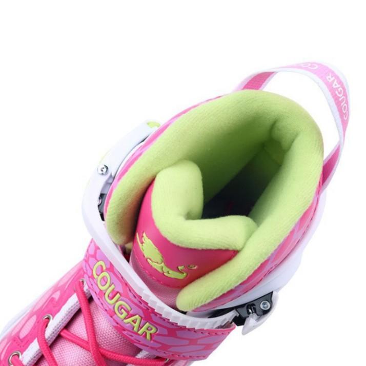 [NEW SIÊU HÓT] Giày trượt Patin cao cấp Trẻ Em Bánh Phát Sáng CHÍNH HÃNG Cougar 767