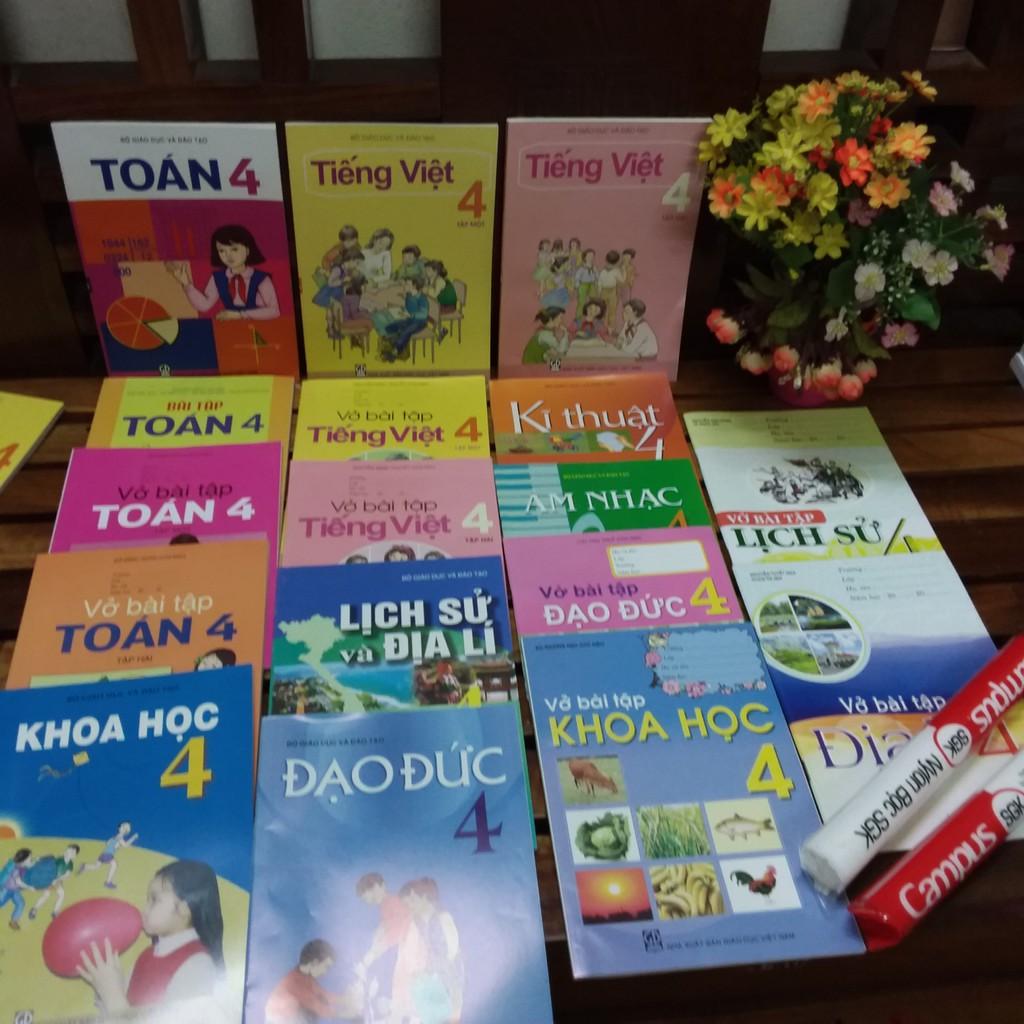 Sách - Sách giáo khoa lớp 4 (trọn bộ 19 cuốn kèm 2 tập bọc sách ) - 3521564 , 1138122995 , 322_1138122995 , 182000 , Sach-Sach-giao-khoa-lop-4-tron-bo-19-cuon-kem-2-tap-boc-sach--322_1138122995 , shopee.vn , Sách - Sách giáo khoa lớp 4 (trọn bộ 19 cuốn kèm 2 tập bọc sách )