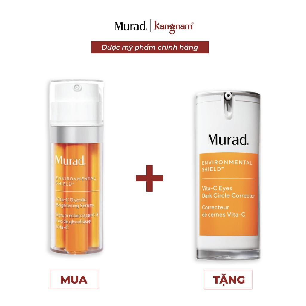 Serum trắng da giảm nám Murad Vita-C Glycolic Brightening TẶNG Kem ngăn quầng thâm mắt Vita-C Eyes Dark Circle Corrector
