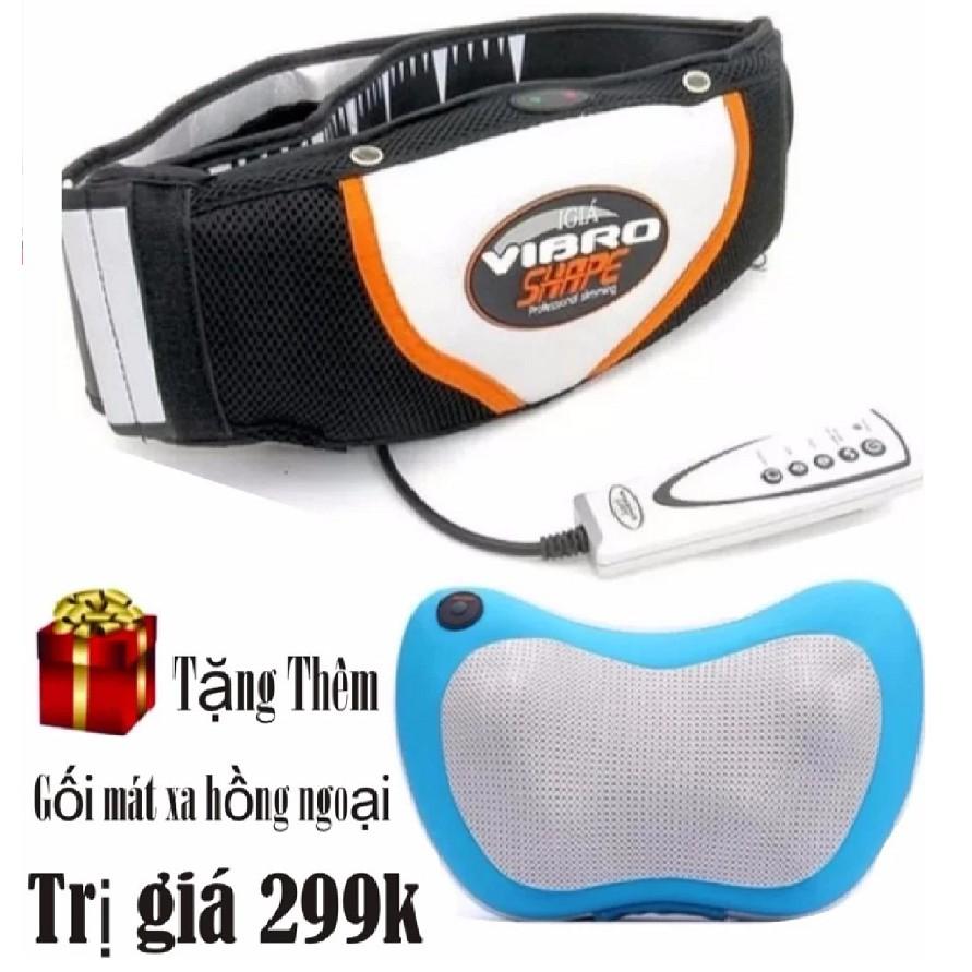 Đai massage nóng và rung trị mỡ bụng hiệu quả Vibro Shape (Đen) + Tặng gối mát xa 8 bi hồng ngoại (N - 3043067 , 739904766 , 322_739904766 , 475000 , Dai-massage-nong-va-rung-tri-mo-bung-hieu-qua-Vibro-Shape-Den-Tang-goi-mat-xa-8-bi-hong-ngoai-N-322_739904766 , shopee.vn , Đai massage nóng và rung trị mỡ bụng hiệu quả Vibro Shape (Đen) + Tặng gối mát