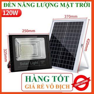 Đèn năng lượng mặt trời chiếu sáng sân vườn 120W