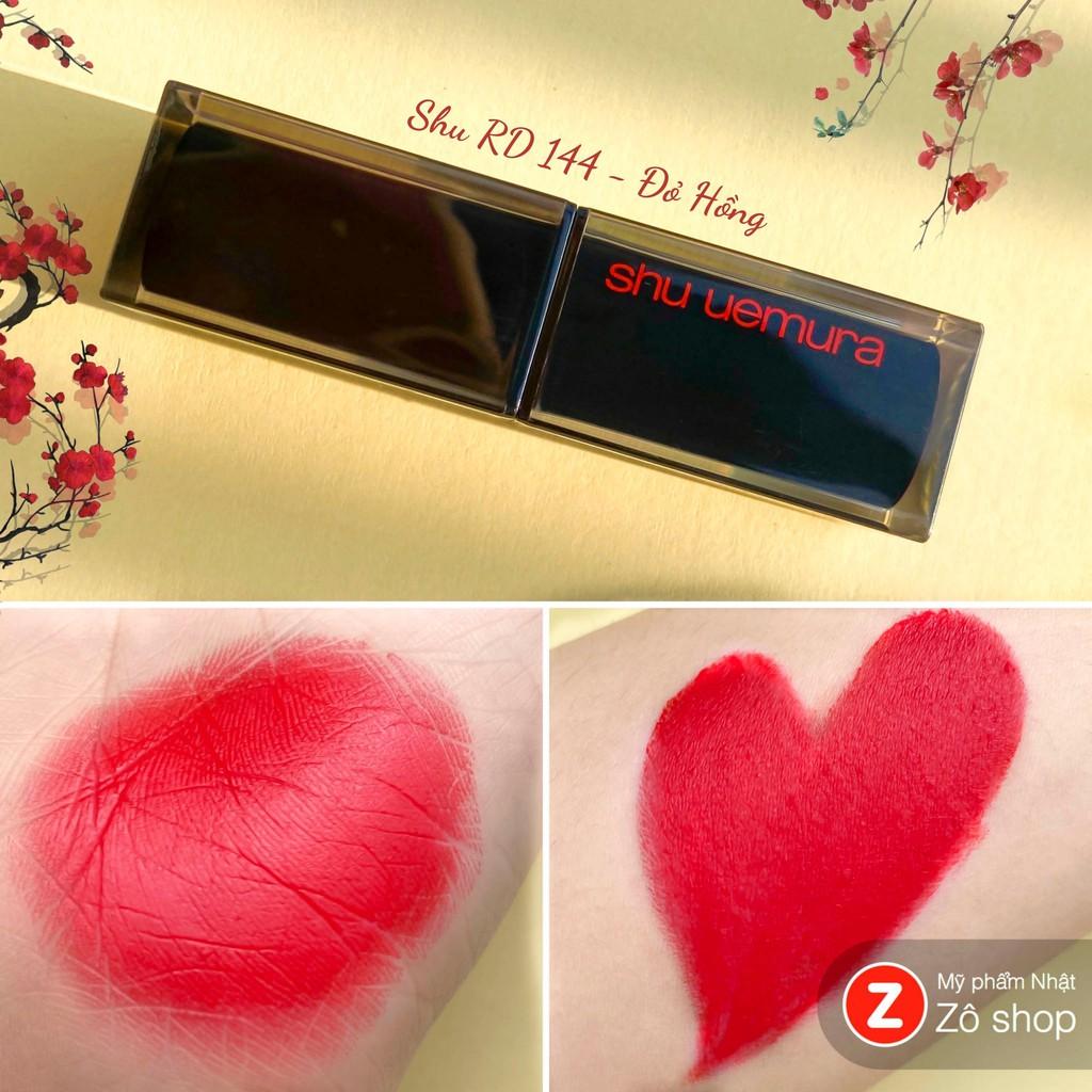 [AM RD 144] Son lì lâu trôi Shu Uemura Amplified Matte RD 144 đỏ hồng - AM RD 144
