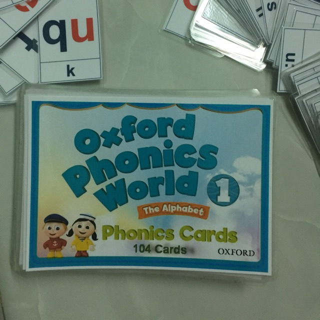 Flashcard oxford phonics world 1 104 thẻ