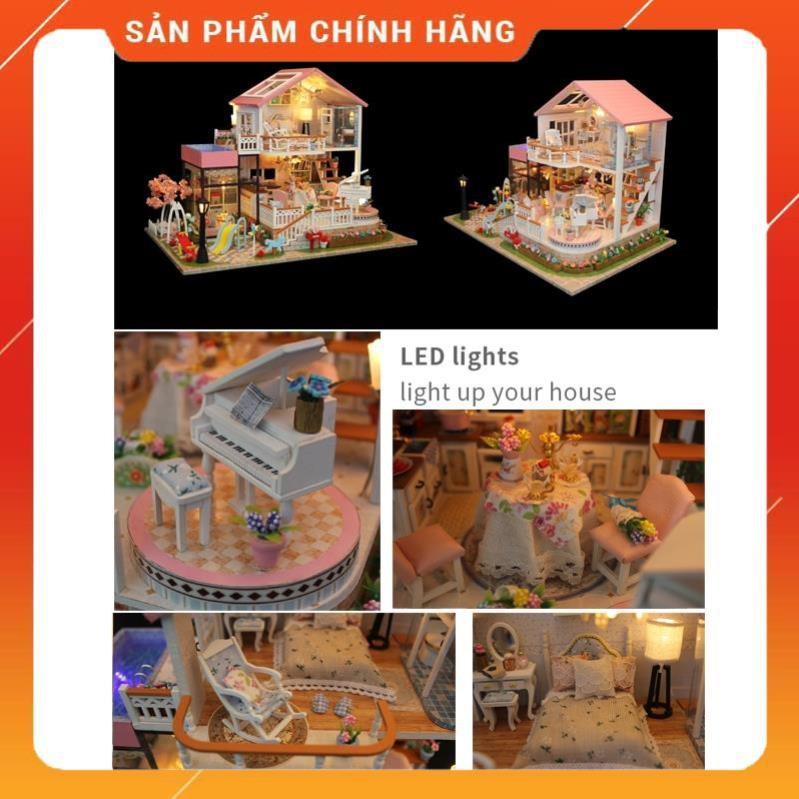 Đồ chơi trẻ em Mô hình lắp ráp bằng gỗ DIY đáng yêu đồ chơi trí tuệ mô hình biệt...
