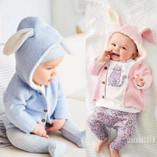 Mu♫-Fashion Newborn Toddler Kids Baby Girls Boy Clothes Knitted Sweater Coat Outerwear