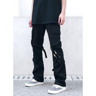 Khaki Cargo Pant With Zipper