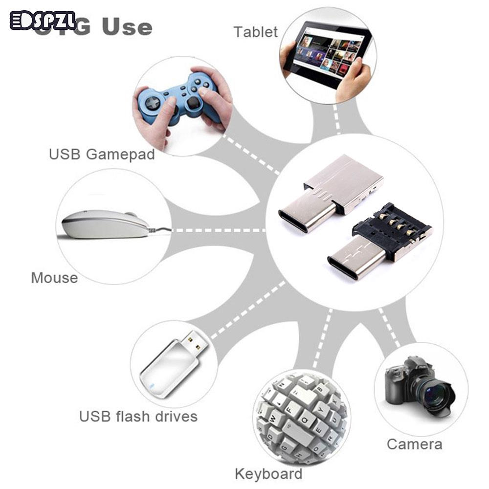 Type-C OTG Adapter Converter Silver Connector Mouse Keyboard Mini Type C USB Ipads