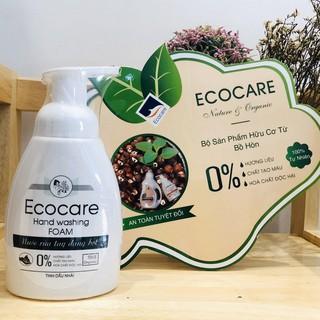 Nước rửa tay hữu cơ diệt khuẩn Ecocare dạng bọt tinh dầu hương nhài 250ml