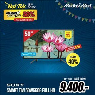 Smart tivi sony 50inch 50W660G Full HD