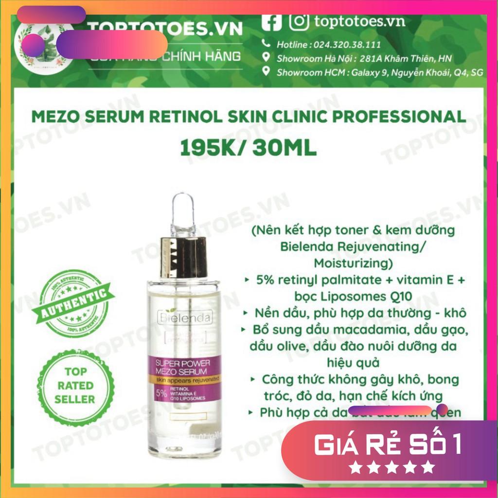 . . Serum Bielenda Retinol Neuro/ Mezo Skin Clinic trẻ hoá, làm da căng bóng, mờ thâm sẹo . ......