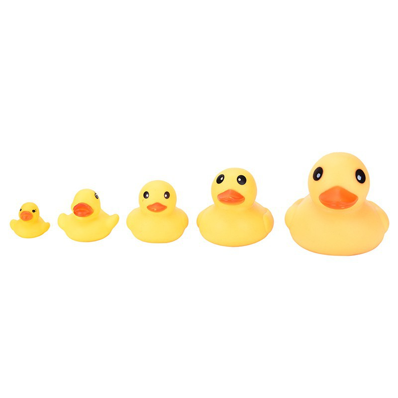 WHVN Yellow  Bathtime Rubber Duck Bath Squeaky Water Play Fun Kids spur