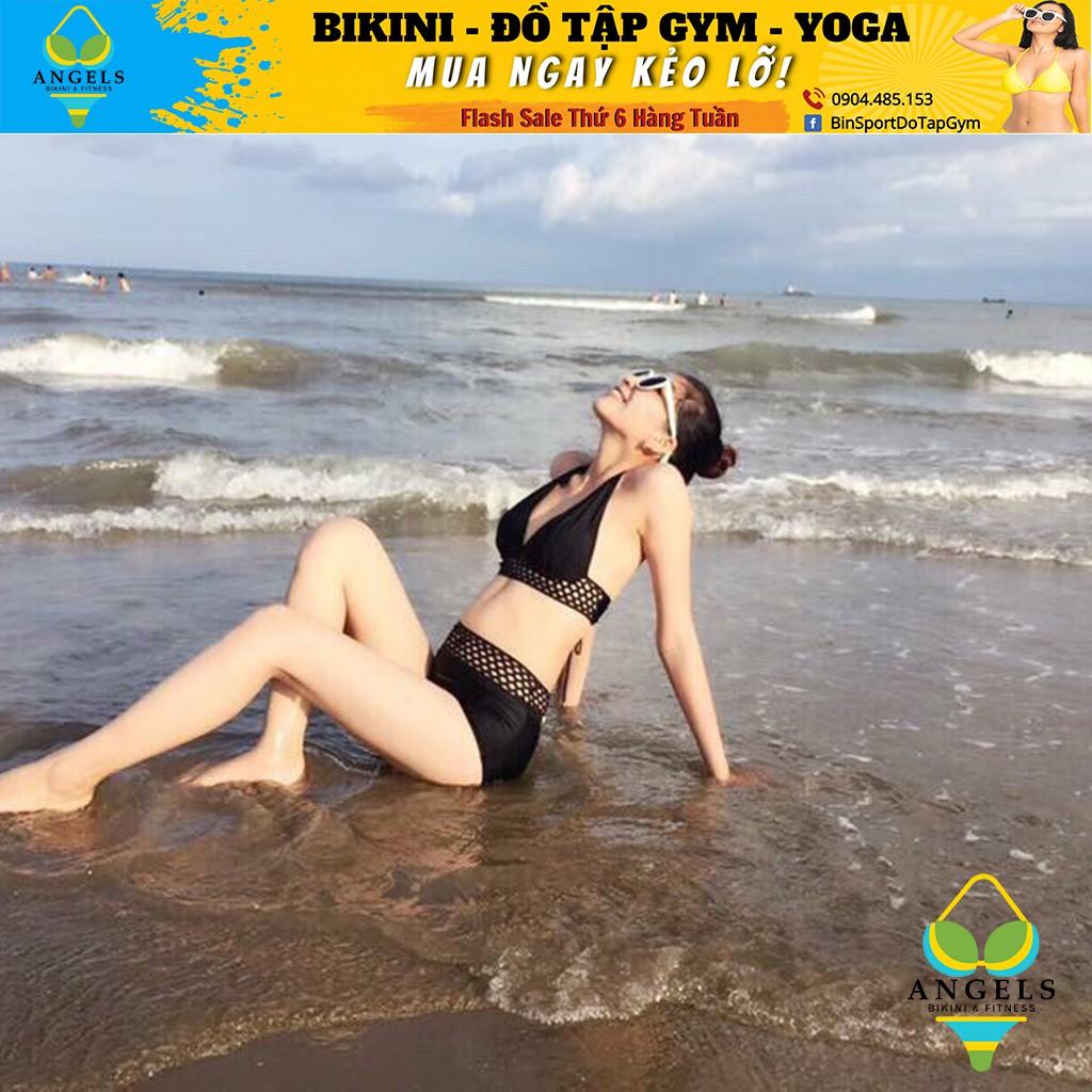 Bikini,Bộ Đồ Bơi Hai Mảnh Phỗi Lưới Sexy Mặc Đi Biển , Ảnh thật 100% BHV009