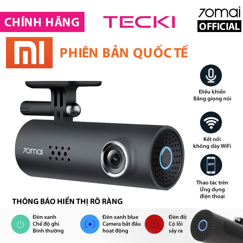 [Bản Quốc Tế] Camera hành trình Xiaomi 70mai Das