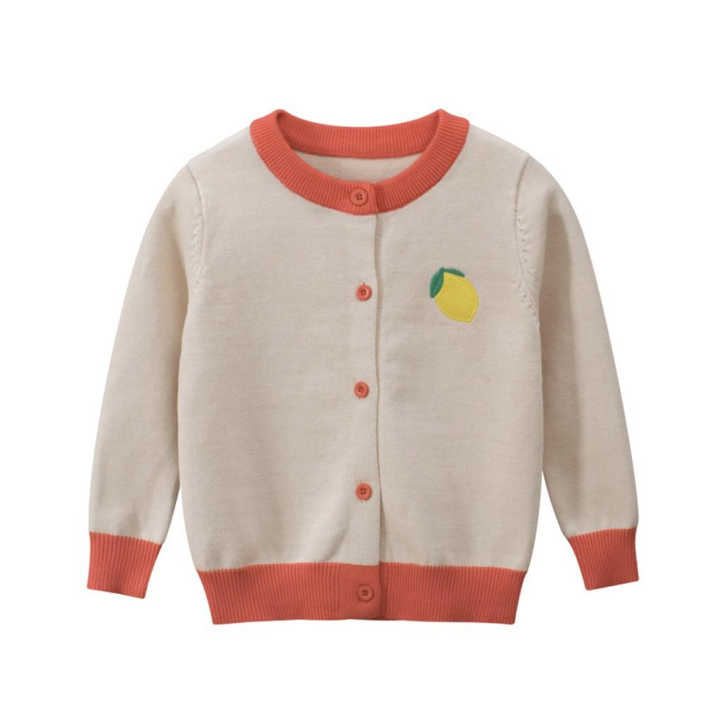 [ VIDEO] Áo khoác len cardigan thu đông cho bé gái 27Home in hình trái cây tone màu pastel cực yêu phong cách Hàn Quốc