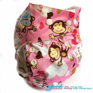 Combo 4 bỉm vải siêu chống tràn goodmama cho bé từ 3-20 kg ( 2 ngày 2 đêm )
