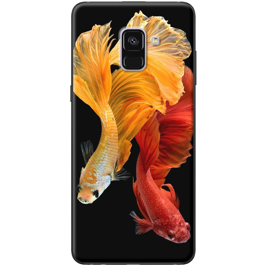 Ốp lưng Samsung A8 2015, A8 2018, A8 Plus Cá betta đỏ vàng