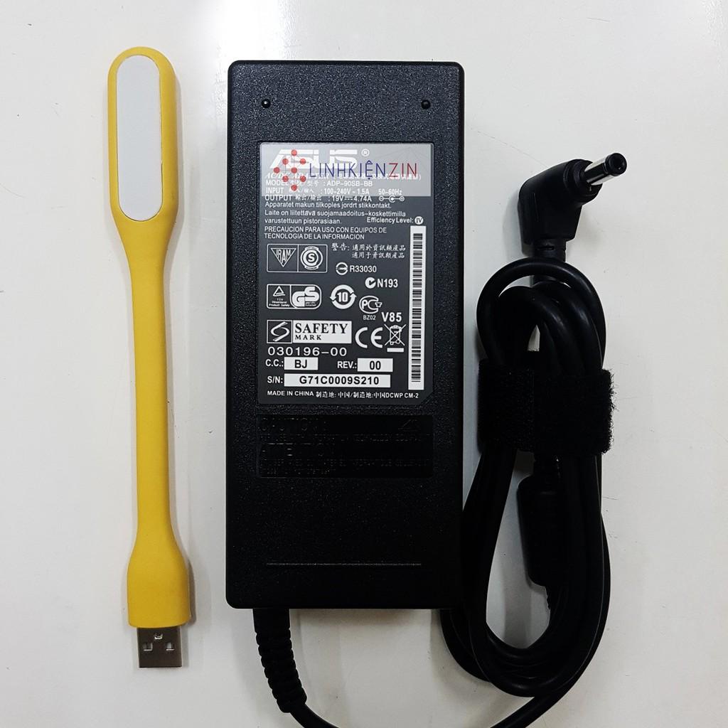 Sạc Laptop Asus K42J K42JA K42JB 19V 4.74A 90W Tặng đèn LED USB