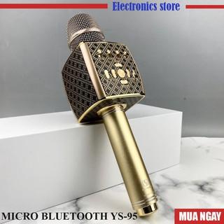 [Mã ELMS4 giảm 7% đơn 500K] Mic Karaoke Bluetooth YS95 Tích Hợp Loa Bass Dùng Hát Tại Nhà Hoặc Livetream không dây
