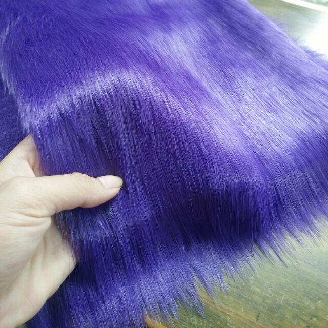 Thảm lông hồ ly màu tím (độc quyền)
