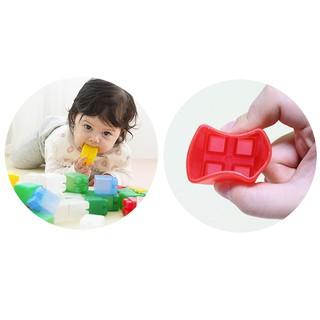 Đồ chơi xếp hình bằng nhựa mềm Co-block loại 10 miếng ghép/hộp