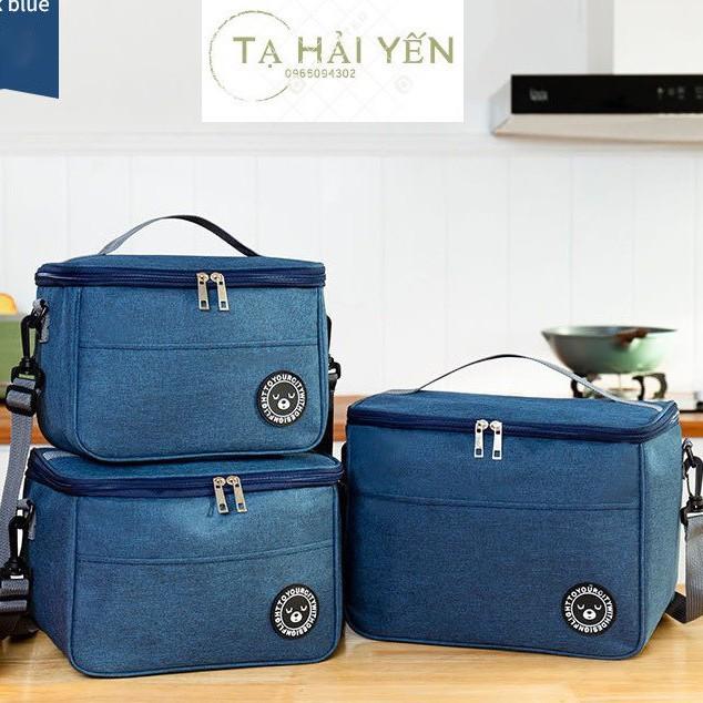 🔥🔥 🔥 Túi giữ nhiệt đựng đồ ăn GẤU BAGS cao cấp, 2 ngăn, có quai đeo, 3 lớp cách nhiệt, khoá kéo kép, túi đựng cơm cỡ lớn