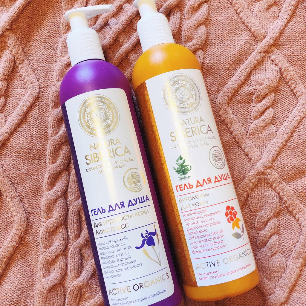 Sữa tắm SPA dưỡng thể nước hoa NATURA SIBERICA - Cosmetics of wild herbs and flowers - Active Organi