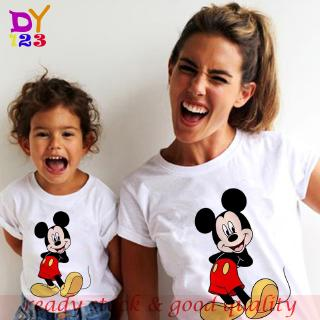 mickey mouse  It's Print T girls Bé gái clothes Thời Trang Trẻ Em Novelty Unisex Sleeve Funny Tops Wogirls Bé gái kids Time Short shirt áo phông tshirt áo thun nữ clothes Thời Trang Trẻ Em