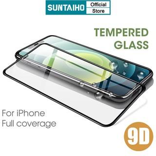 Kính Cường Lực SUNTAIHO Thiết Kế 9D Bảo Vệ Toàn Màn Hình Cho IPhone 12 Pro mini 11 Pro Xs Max Xr X 10 SE 7 8 6S Plus