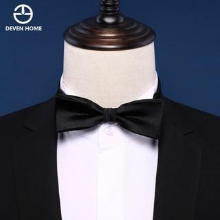 Black silk tie, men's suit, business fashion, Korean bow, wedding ceremony, groo