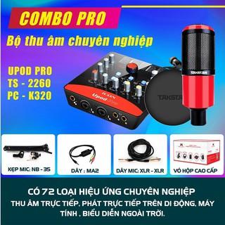 [CHÍNH HÃNG] Combo thu âm, livestream chuyên nghiệp Mic PC K320, Soundcard Icon Upod Pro, Tai nghe TS2260 và phụ kiện. thumbnail