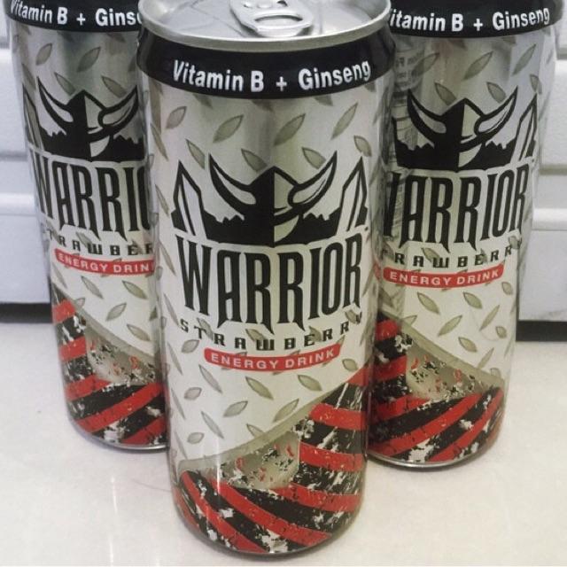 Lốc 6 lon Nước tăng lực Warrior dâu 325ml/lon