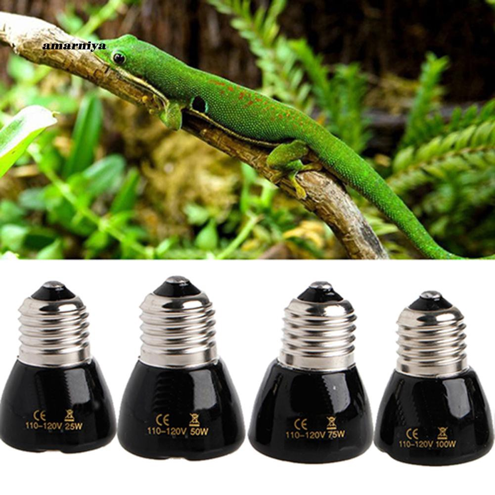 AMA♥25/50/75/100W Far IR Mini Type Pet Breeding Emitter Lamp Ceramic Light Heat Bulb