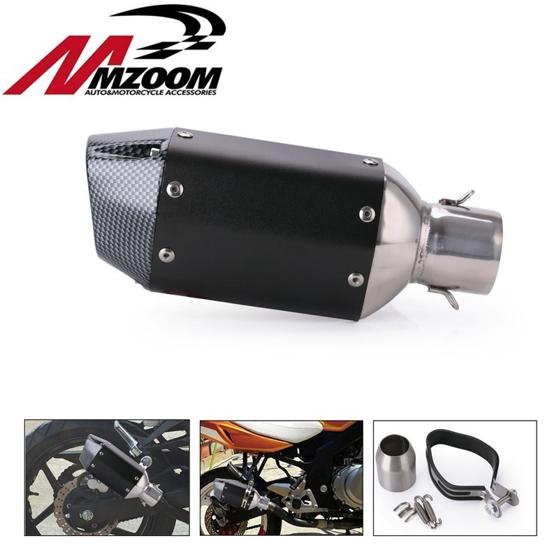51mm Universal Motorcycle Exhaust Pipe Muffler Silencer