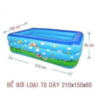 Bể bơi ba tầng 2m1 ( kèm keo dán , ống xả , bên trong hộp)