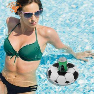 ✿BP✿PVC Inflatable Soccer Coaster Water Cup Mat Football Drink Cup Holder
