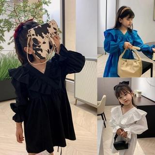 Đầm công chúa cổ chữ V phong cách duyên dáng dành cho bé gái