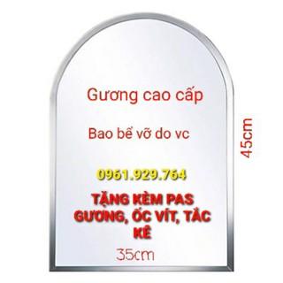 GƯƠNG TREO TƯỜNG NHÀ TẮM KT NGANG 35 x 45cm VT