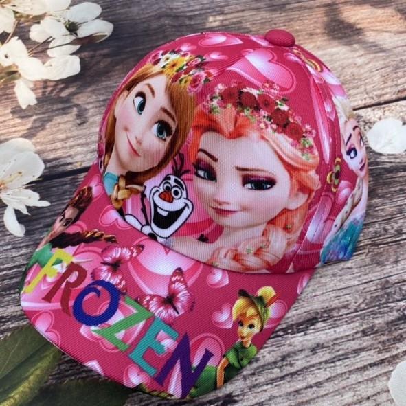 Mũ Cho Bé Gái FREESHIP Nón 3D Elsa Cho Bé - Mũ Lưỡi Trai Cho Bé 3->7 Tuổi