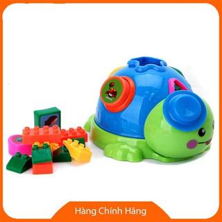 [Giảm giá] Đồ chơi rùa con chứa lego xếp hình và thả khối_Hàng chất lượng cao