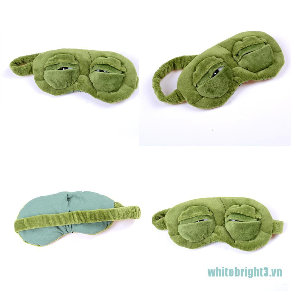 [white3] Frog Sad frog 3D Eye Mask Cover Sleeping Funny Rest Sleep Funny Gift