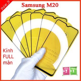 Kính cường lực Samsung M20 full màn hình, Ảnh thực shop tự chụp, tặng kèm bộ giấy lau kính taiyoshop2 thumbnail