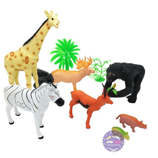 Bộ đồ chơi mô hình thú sống trong rừng đại bằng nhựa