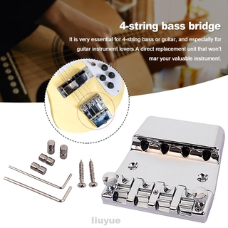 Professional Repair Musical Instruments Small Electric Guitar Easy Install With Wrench 4 String Shoe-shaped Bass Bridge